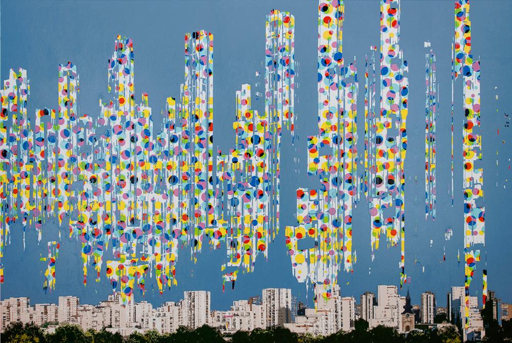 Himmel-uber-Belgrade-(from-MitteleuropaischeLandschaft),-oil-on-canvas,-200x300-cm,-2014.
