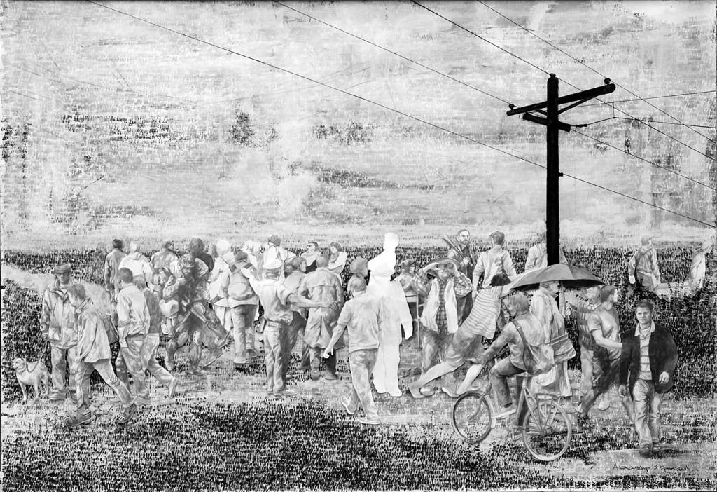 Aleksandar V Brankovic, Lost Constructions I, crtez, 70 x 100 13132132cm, 2017