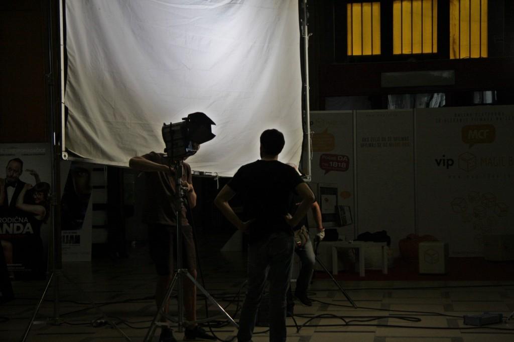 1 Snimanje u Domu sindikata, fotografija Katarina Kostandinović