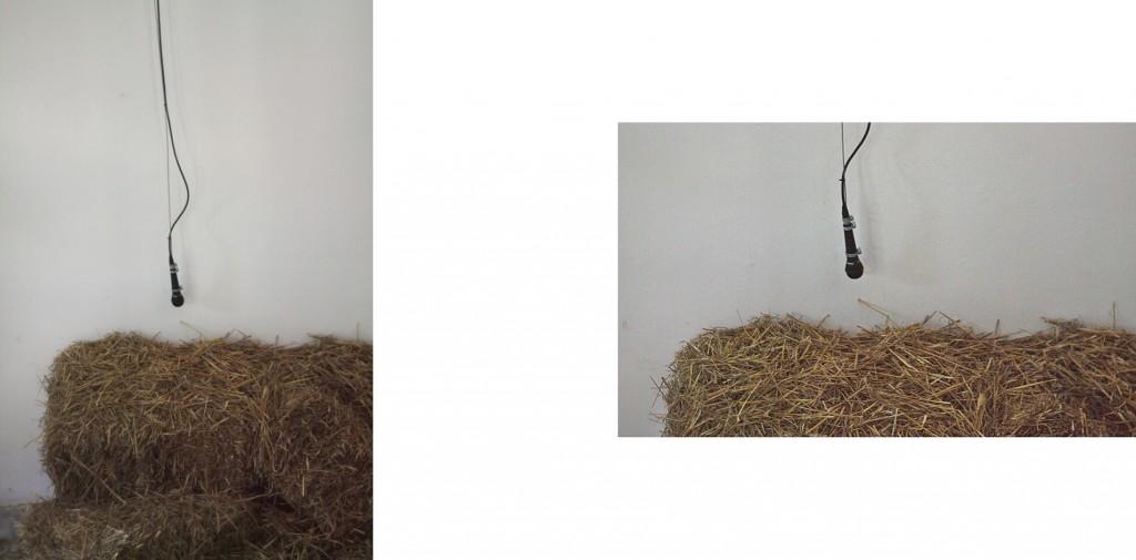 Mašina koja mlati praznu slamu, 2016, kombinovana tehnika, 200 x 300 x 30 cm
