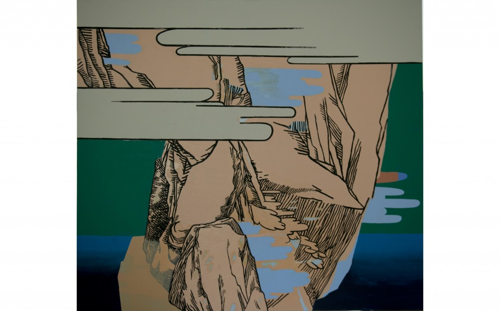 Bez naziva, 2017, akril na platnu, 180 x 200 cm