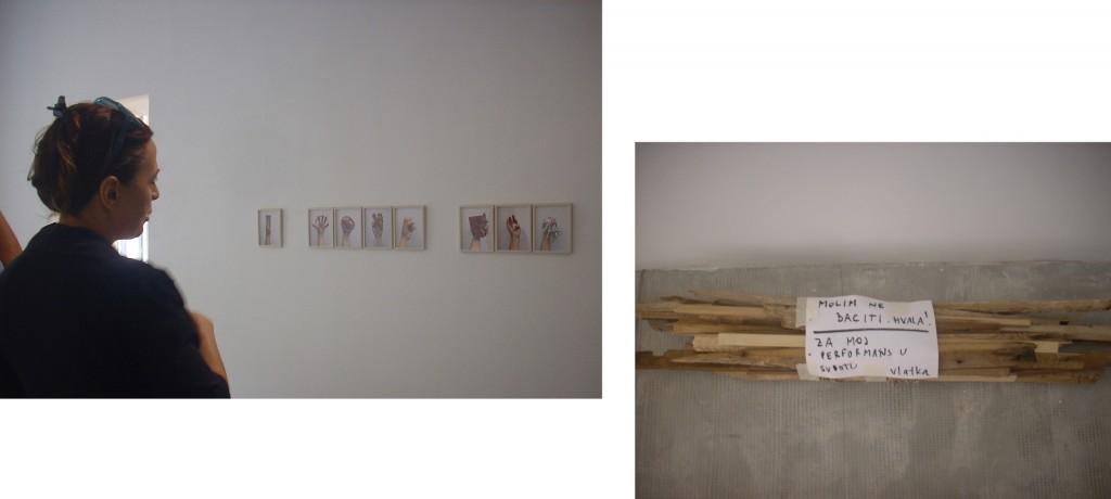 14a Rijeka, Muzej moderne i suvremene umjetnosti, Vlatka Horvat o svom radu Spomenici, 2018. Pripreme za performans Koji dođu i stoje, 2018