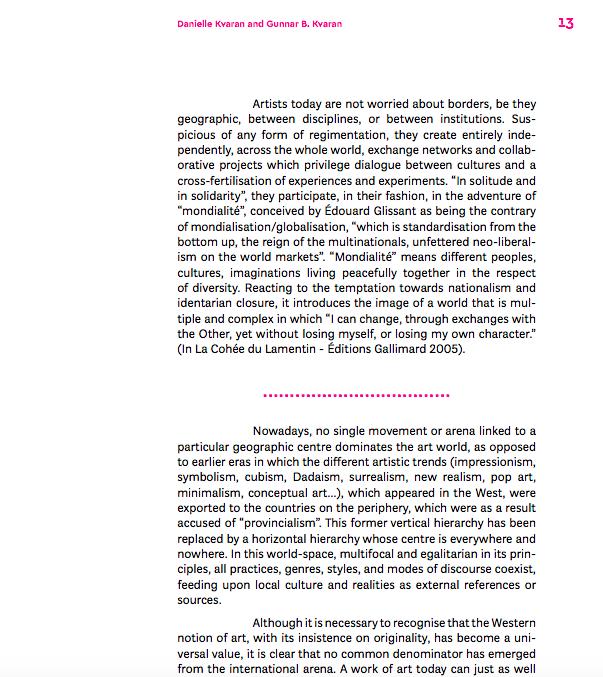 Gunnar B. & Danielle Kvaran, The Marvellous Cacophony, 2018, pg. 16